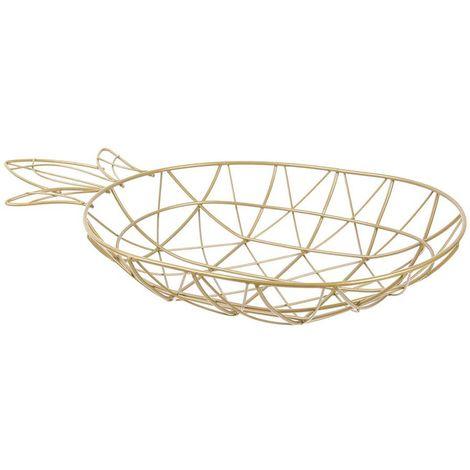 """main image of """"Corbeille filaire ananas doré - Doré"""""""