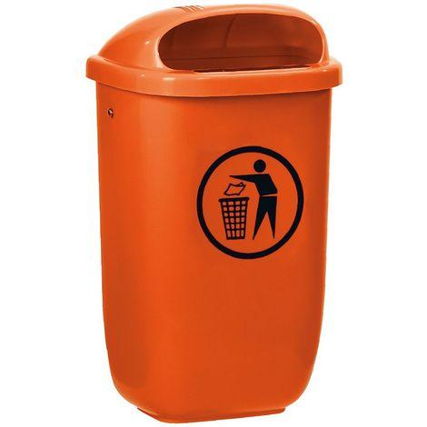 Corbeille | HDPE | orange | 50 litres | 404x248x745 | Classic | medial
