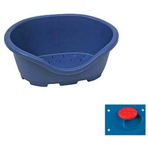 Corbeille plastique DIDO (chien et chat) Désignation : Dido Bleu | Longueur : 110 cm | Largeur : 78 cm | Hauteur : 32 cm MORIN IMPORT DIDO110B