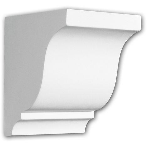 Corbel 119003 Profhome Shelve Wall board Decorative Element Doric style white