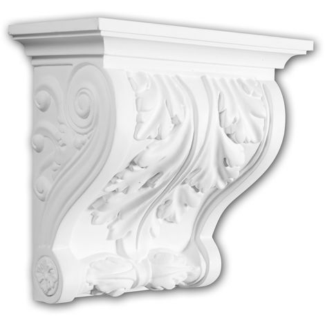 Corbel 119007 Profhome Shelve Wall board Decorative Element Corinthian style white