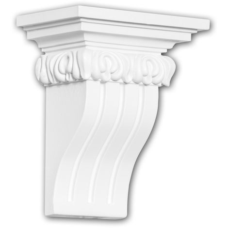 Corbel 119009 Profhome Shelve Wall board Decorative Element Ionic style white
