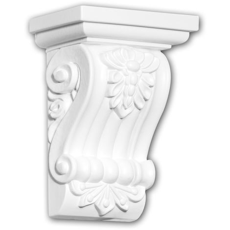 Corbel 119012 Profhome Shelve Wall board Decorative Element Ionic style white