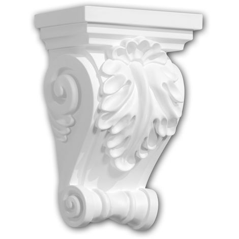 Corbel 119015 Profhome Shelve Wall board Decorative Element Corinthian style white
