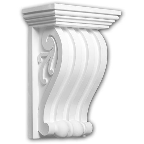 Corbel 119017 Profhome Shelve Wall board Decorative Element Ionic style white