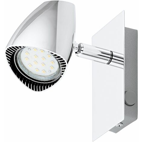 CORBERA 1 Wall Light Rocker Switch Chrome Spot Lighting