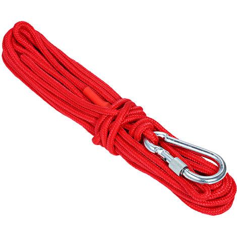 Corda di nylon, corda di sicurezza, 10 m-rossa