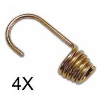 Corda Elastica o treccia con Ganci varie misure per telo occhiellato barca STI