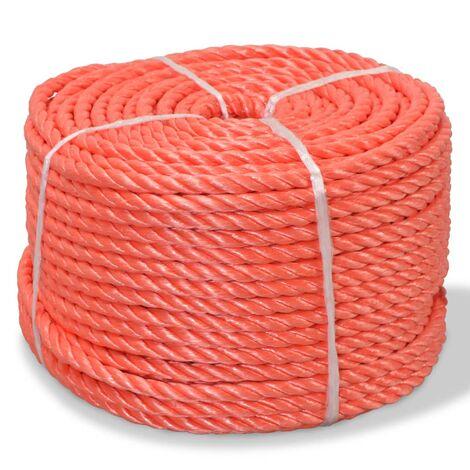 Corda Intrecciata in Polipropilene 14 mm 100 m Arancione