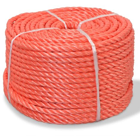 Corda Intrecciata in Polipropilene 6 mm 200 m Arancione