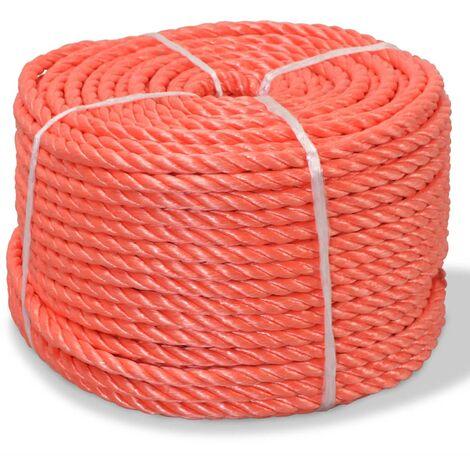 Corda Intrecciata in Polipropilene 8 mm 500 m Arancione