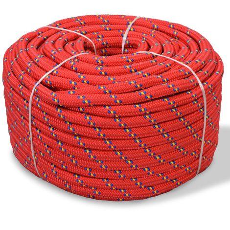 Corda Nautica in Polipropilene 10 mm 50 m Rosso