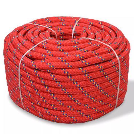 Corda Nautica in Polipropilene 6 mm 100 m Rosso