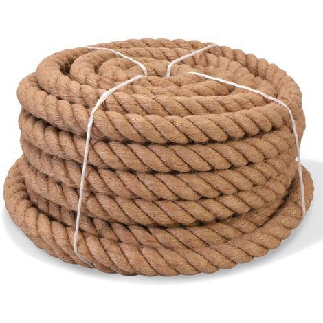 Corde 100 % jute 40 mm 30 m