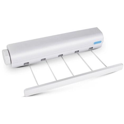 Corde à linge rétractable automatique pour intérieur à suspendre à linge às 5 fils