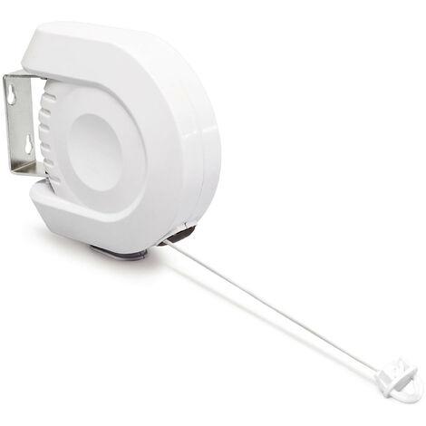 Corde à linges rétractable 12 m usage intérieur/ extérieur Séchoir fil à linge