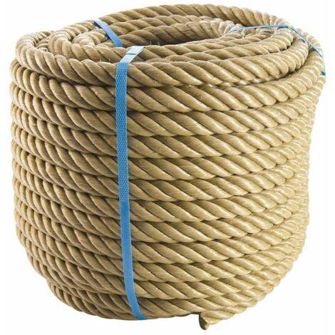 Corde beige polypropylène 50m, Ø18mm