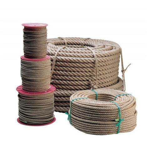 Corde chanvre non-poli au mètre - plusieurs modèles disponibles