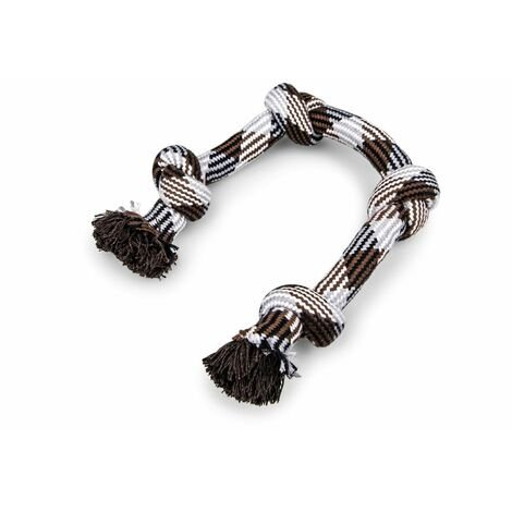 Corde coton 4 noeuds brun 260g 58cm