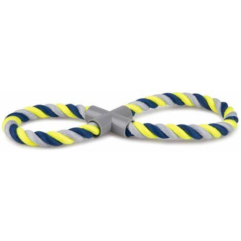 Corde coton forme de 8 bleu- 250g 35cm