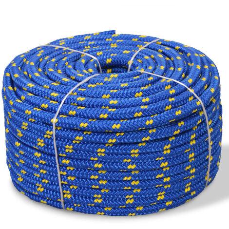 Corde de bateau Polypropylène 12 mm 50 m Bleu