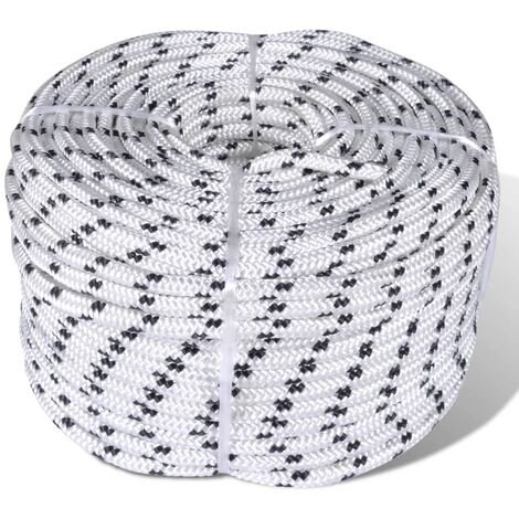 Corde de bateau tressée en bobine Polyester 10 mm x 50 m