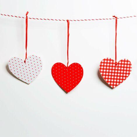 Corde de corde de corde de coton de ficelle pour l\'emballage de cadeau de Noël, artisanat d\'arts, total 656 pieds (2PCS, multicolore)