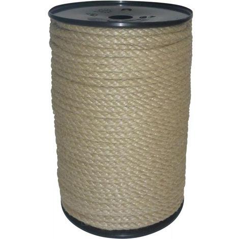 Corde de fibres multibrins 8mm 100m en polypropylène