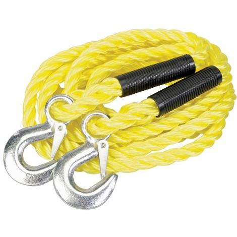 Assistance en cas de panne Câble de remorquage Corde serrage Corde Corde Corde en acier 3,5m x 8mm 3000kg 3T Auto et Moto