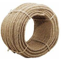 Corde en chanvre naturel - Diamètre : 10mm - Longueur : 50 mètres