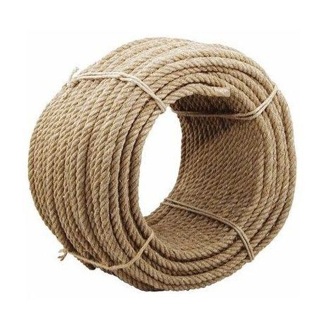 Corde en chanvre naturel - Diamètre : 12mm - Longueur : 25 mètres