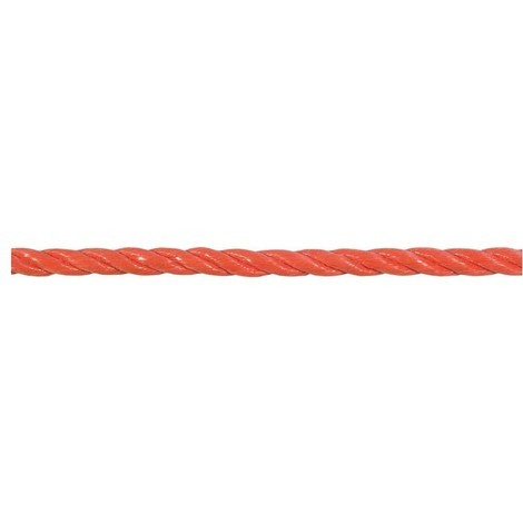 Corde en polypropylène, tressés 8mm R.120m(250x200)orange (Par 120)