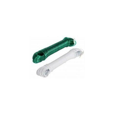 Corde linge blanc 20m+tendeur412840