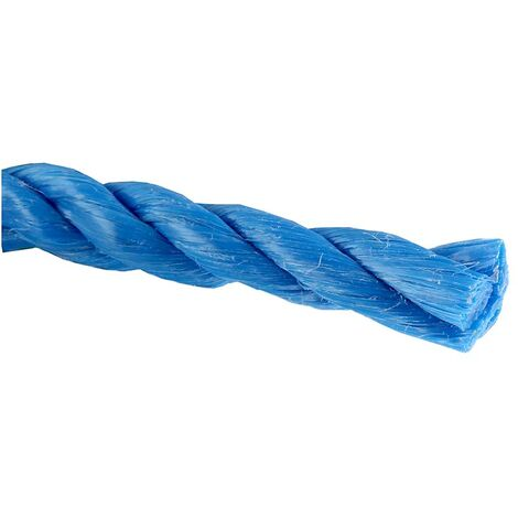 Corde en polypropyl/ène tress/é solide Bleu 50 m x 10 mm