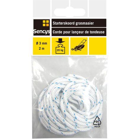 Corde pour lançeur de tondeuse Sencys - polyéthylène - Ø 3 mm x 2 m