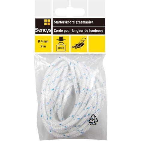 Corde pour lançeur de tondeuse Sencys - polyéthylène - Ø 4 mm x 2 m