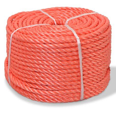 Corde torsadée Polypropylène 14 mm 100 m Orange