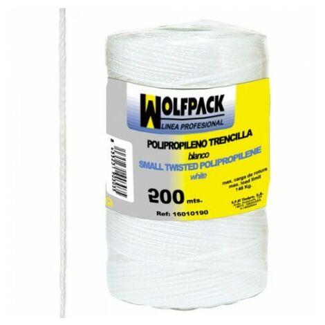 Corde tressée polypropylène blanche (bobine 200 mètres)
