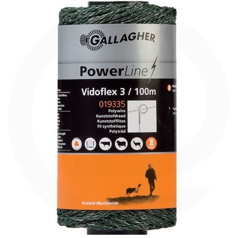 Corde Vidoflex 3 PowerLine - Gallagher - 100m