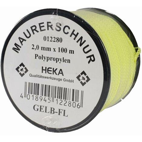 Cordeau de maçon jaune 2.0mm x 100m jaune HEKA - 012280
