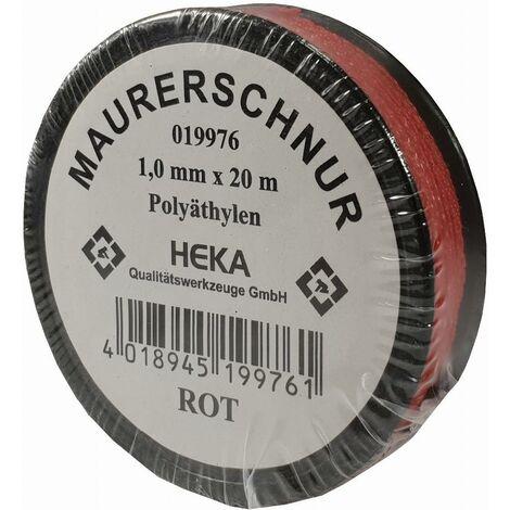 Cordeau de maçon rouge 1.0mm x20m rouge HEKA - 019976