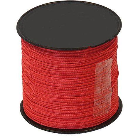 Cordeau Nylon Rouge Ø1mm