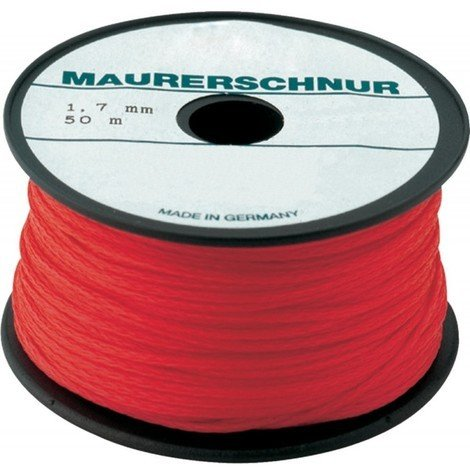 Cordeaux macon PE 1,7mm 100m rouge Overmann
