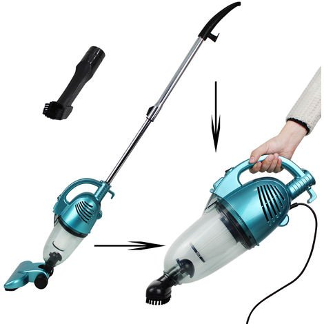 Corded Bagless Stick Vacuum, Vacuum Cleaner 2 in 1 Upright and Handheld, Blue, Dust container capacity: 1.3 L
