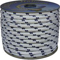 Corderie Italiane 006000501 Treccia Nautica 10MM-020MT, Bianco con Segnalino Blu