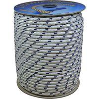 Corderie Italiane 006006008 Treccia Nautica 04MM-100MT, Bianco con Segnalino Blu