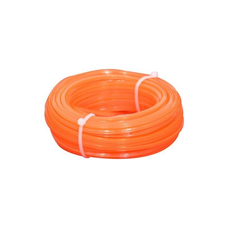 006032212 Fil débroussailleuse, Carré, 4mm, 15m, Orange - Corderie Italiane