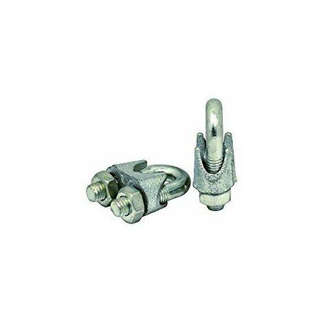 Corderie Italiane 006044468Pince Serre-câble en acier zingué, gris, 8mm