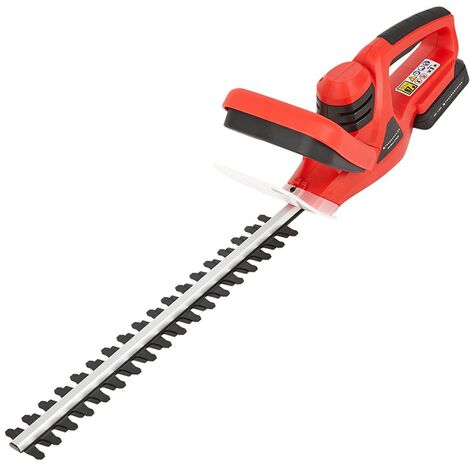 Cordless 20V Lightweight Hedge Trimmer Bush Cutter with Battery & Fast Charger