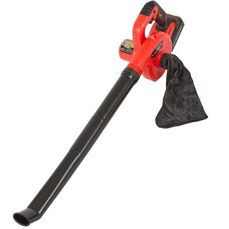 Cordless 20V Lightweight Leaf Blower and Dust Vaccum with Battery & Fast Charger